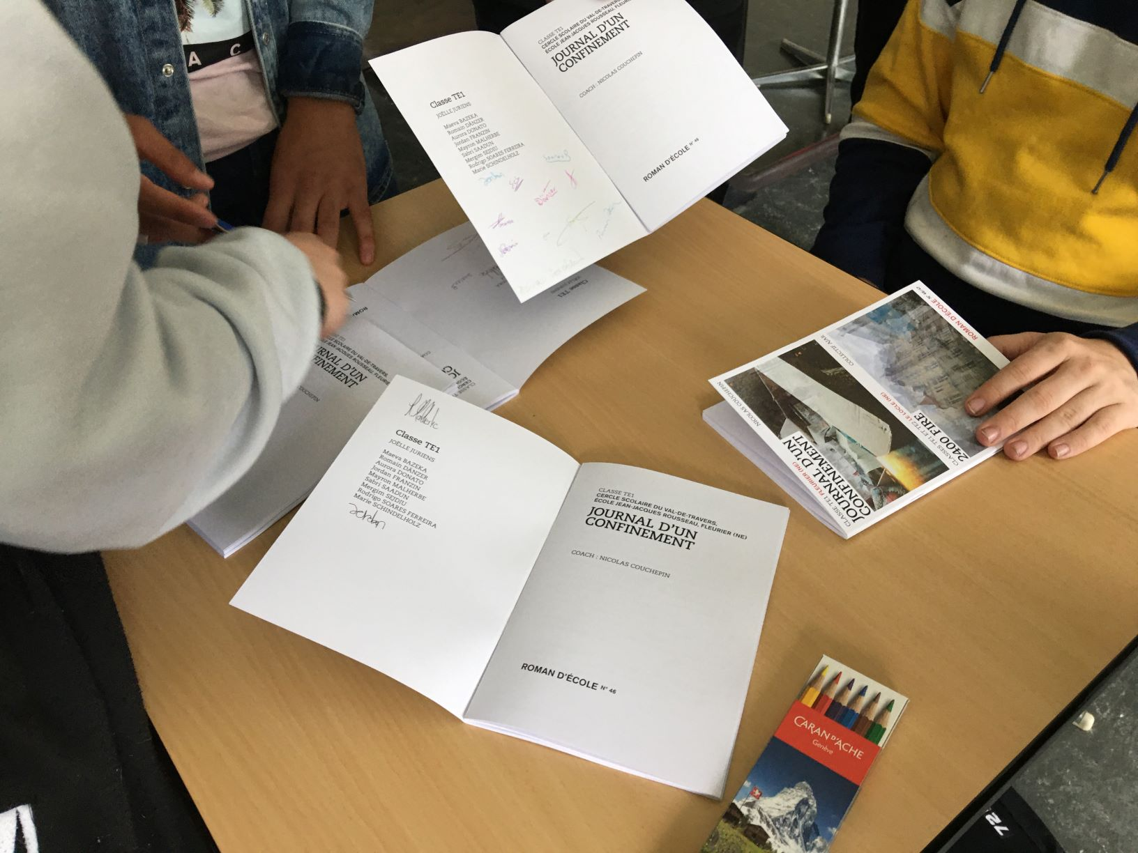 Signature des brochures